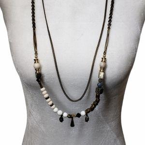 Free People Layered Necklace Boho Chic